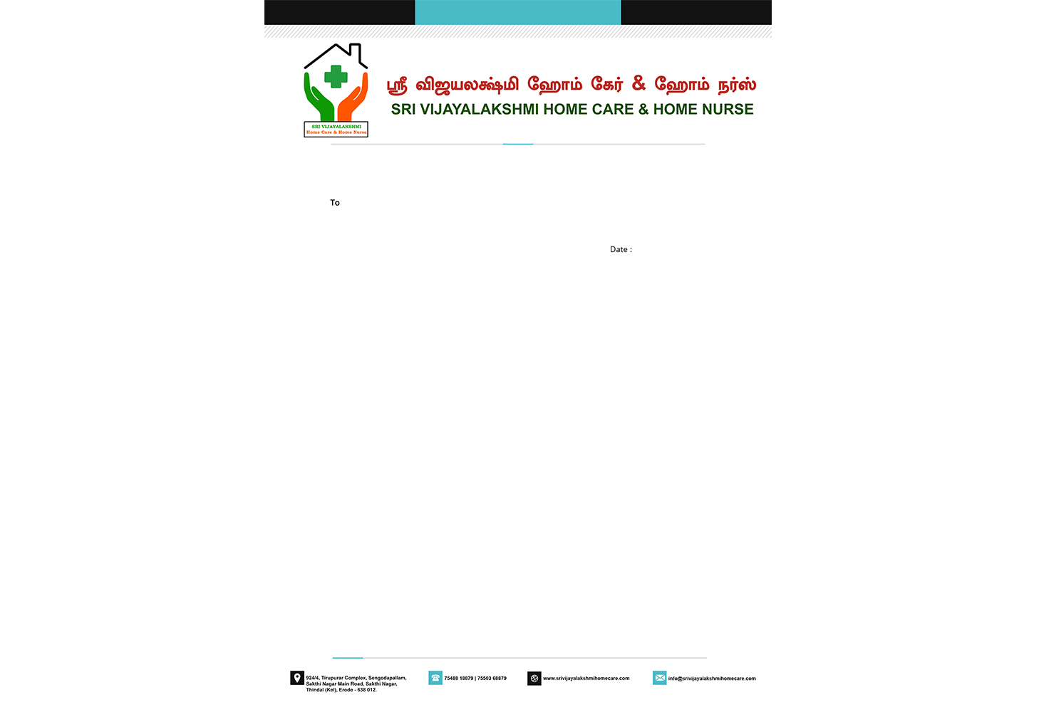 Sri Vijayalakshmi Home Care Letter Head